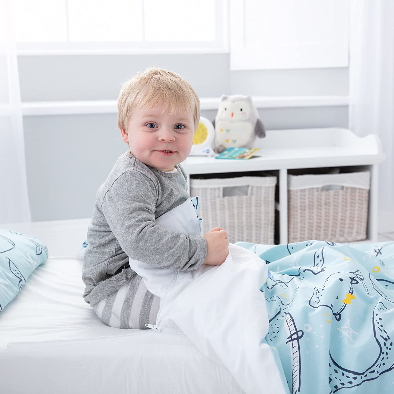 Single Bed The Gro Company Ollie The Owl Gro to Bed Toddler Bedding Set