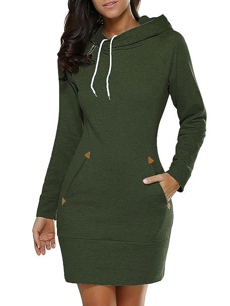 più recente 99a3f 0549b JONLILEI Donna Vestiti Invernali Mini Pullover Matita Abito ...
