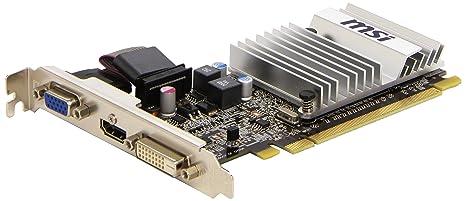 MSI RS5450-MD1GD3H/LP - Tarjeta gráfica (Radeon 5450HD, 1 GB DDR3 DVI/HDMI/VGA PCIe LP Pasiva)