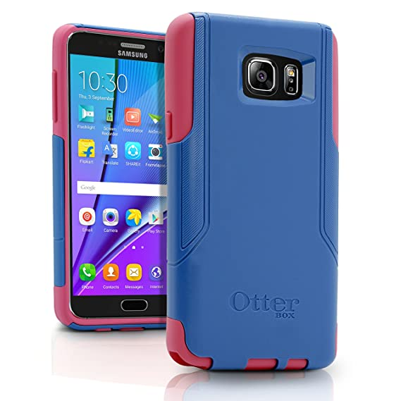 pretty nice f75d0 74c6f OtterBox COMMUTER SERIES Case for Samsung Galaxy NOTE 5 - Retail Packaging  - Royal Blue PC / Hibiscus Pink Slip