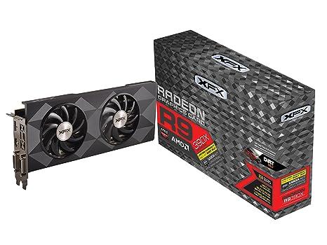 XFX AMD Radeon R9 390X - Tarjeta gráfica de 8 GB (GDDR5, PCI Express 3.0, 1050 MHz), Color Negro