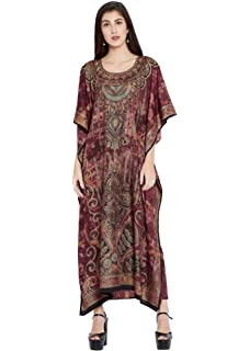 c6ce903467 Amazon.com: Goood Times Plus Size Boho-Chic Beige Color Caftan-Style ...