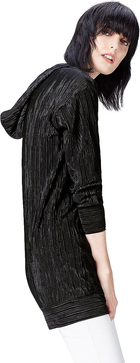 Marca Amazon - find. Sudadera Plisada con Capucha para Mujer