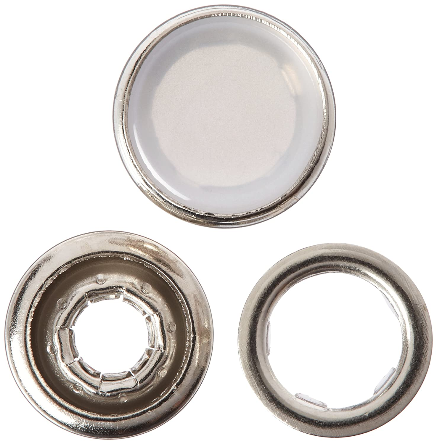 White 4-Count 7//16-Inch Size 16 Dritz 17-R Pearl Snap Fasteners