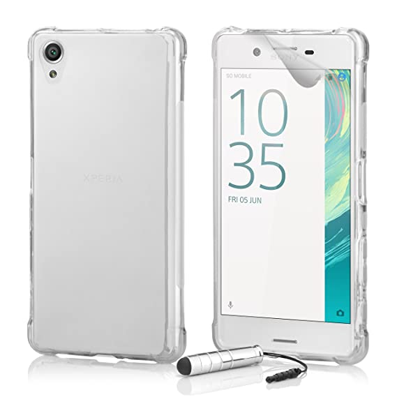 best deals on eeb54 e12ed Sony Xperia E5 Case by 32nd, Tough Gel Silicone Defender Shell Cover - Clear