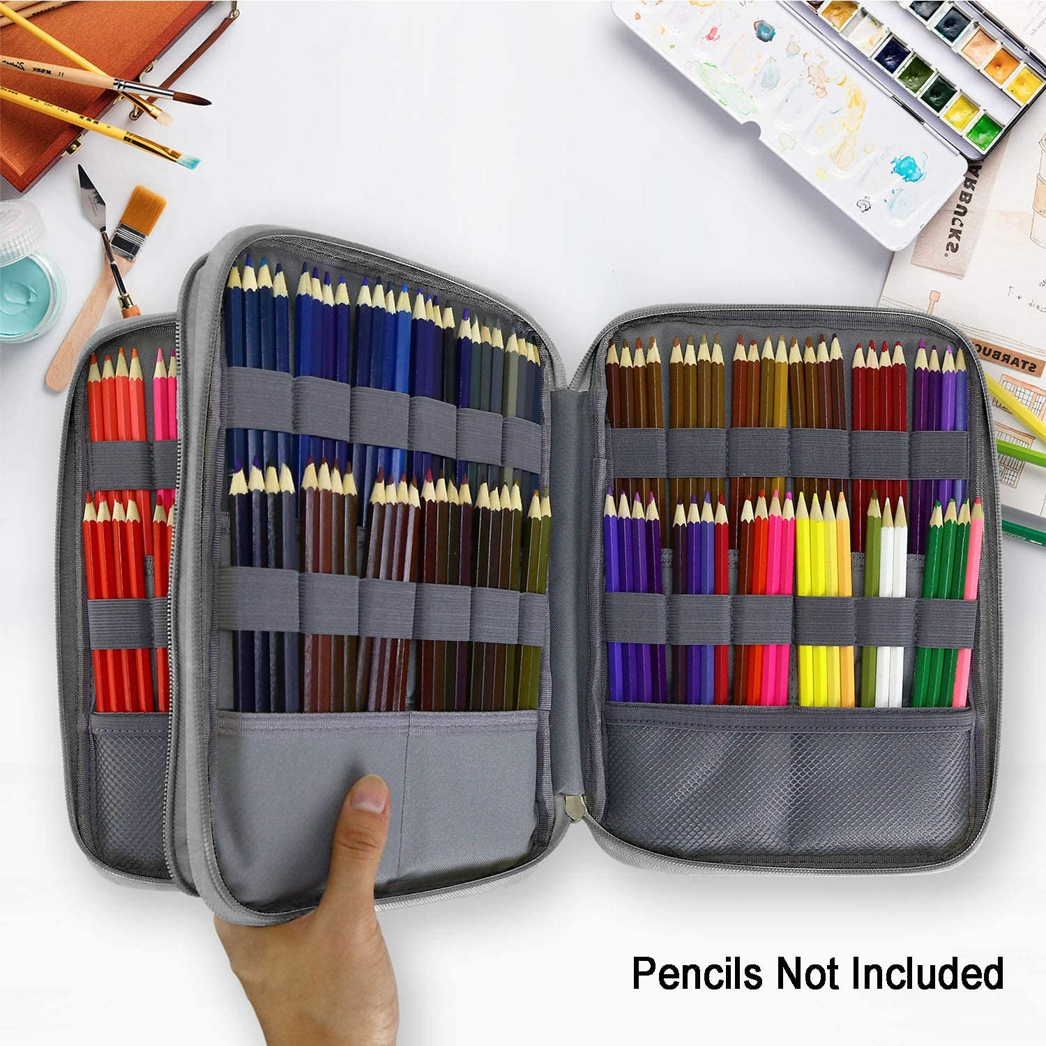 Colorful Leaves YOUSHARES 192 Slots Colored Pencil Case Gel Pens for Student /& Artist Large Capacity Pencil Holder Pen Organizer Bag with Zipper for Prismacolor Watercolor Coloring Pencils