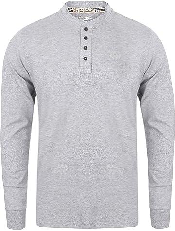 80ab468f573 Levi's Men's 300ls Long Sleeve Henley 1p Long Sleeve Vest - Grey ...