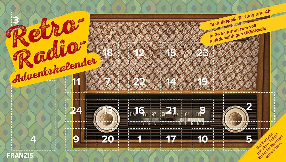 FRANZIS Retro-Radio-Adventskalender 2018 | Bauen Sie in 24 Schritten Ihr eigenes UKW-Radio! | Ab 14 Jahren Kalender – 9. Juli 2018 Burkhard Kainka FRANZIS Verlag B07B12HN57 Weihnachten