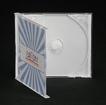 100 Cajas para 1 CD Jewel Slim, Transparente, 5 mm: Amazon.es ...