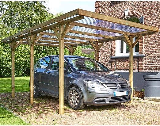 Habitat et Jardin – Cubierta para coche, techo, PVC, máximo 15, 56 ...