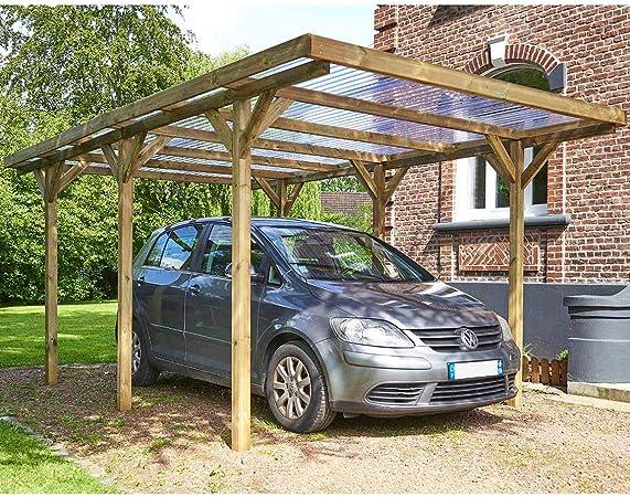 Habitat et Jardin – Cubierta para coche, techo, PVC, máximo 15, 56 m², 3, 04 x 5, 12 m: Amazon.es: Jardín