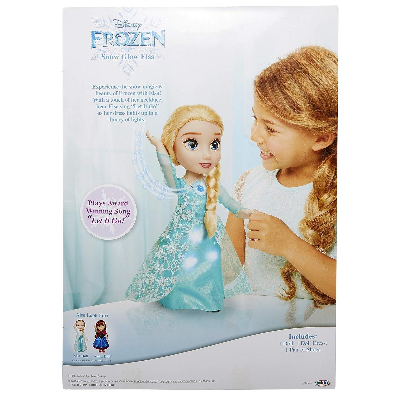 Amazon.com: Frozen Snow Glow Elsa lleva un vestido azul ...