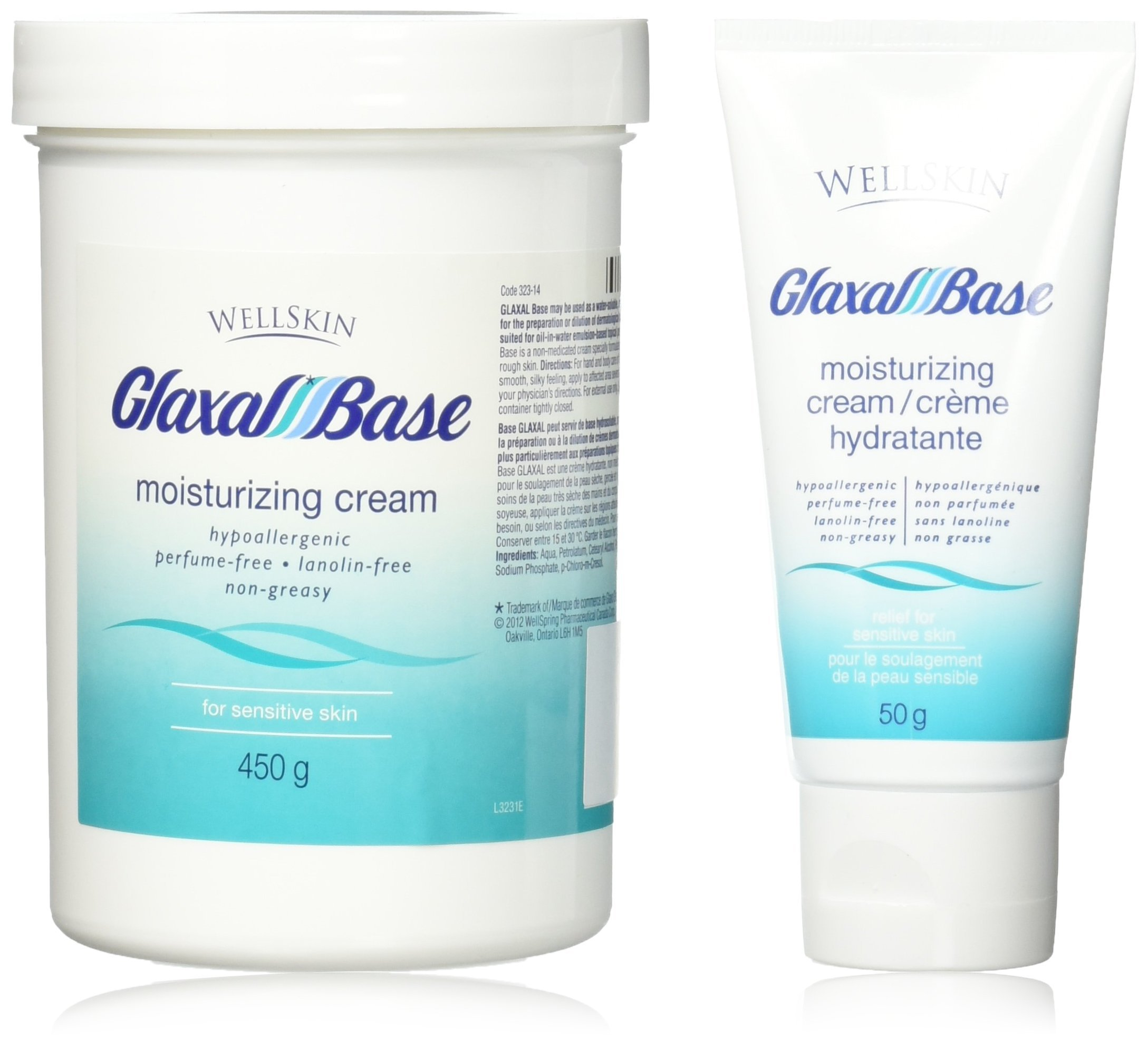 Glaxal Base® Moisturizing Cream Value Pack 450g+50g travel size