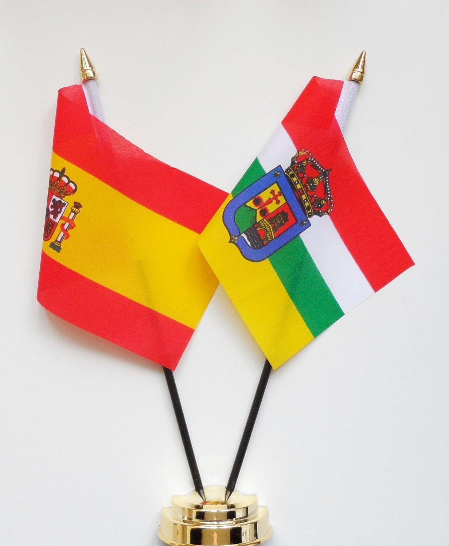 España y la Rioja amistad Bandera de mesa pantalla 25 cm (10 ...