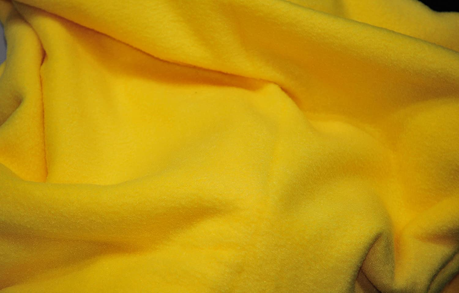 10 Yards Solid and Print Bolt Solid Anti-Pill Polar Fleece; No-Sew Tie Blanket Fabric Rolled up Full Piece (Yellow) 81mWmSYTs1L