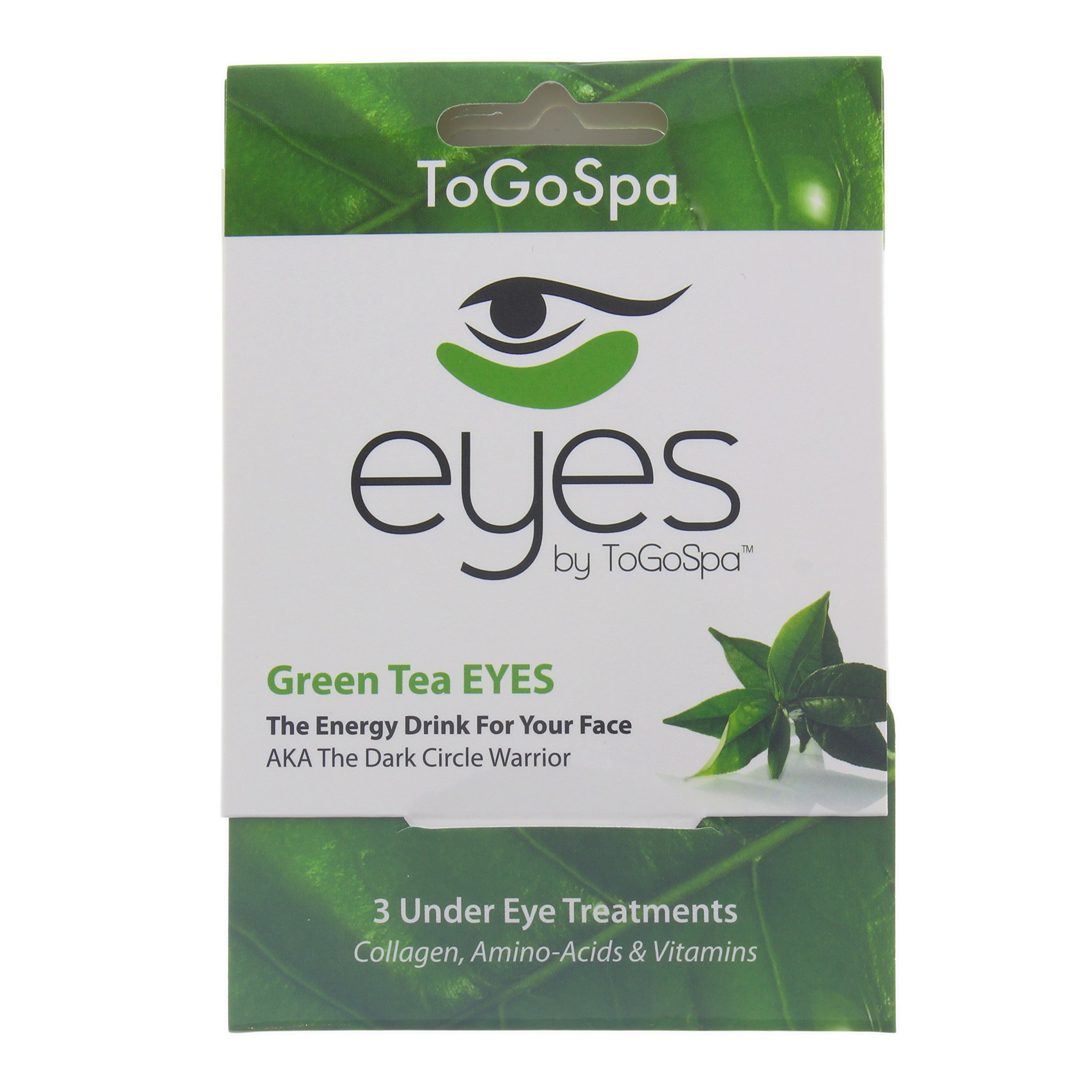 Green Tea EYES by ToGoSpa – Premium Anti-Aging Collagen Gel Pads for Puffiness, Dark Circles, and Wrinkles – Under Eye Rejuvenation for Men & Women - 10 Pack – 30 Treatments by ToGoSpa (Image #4)