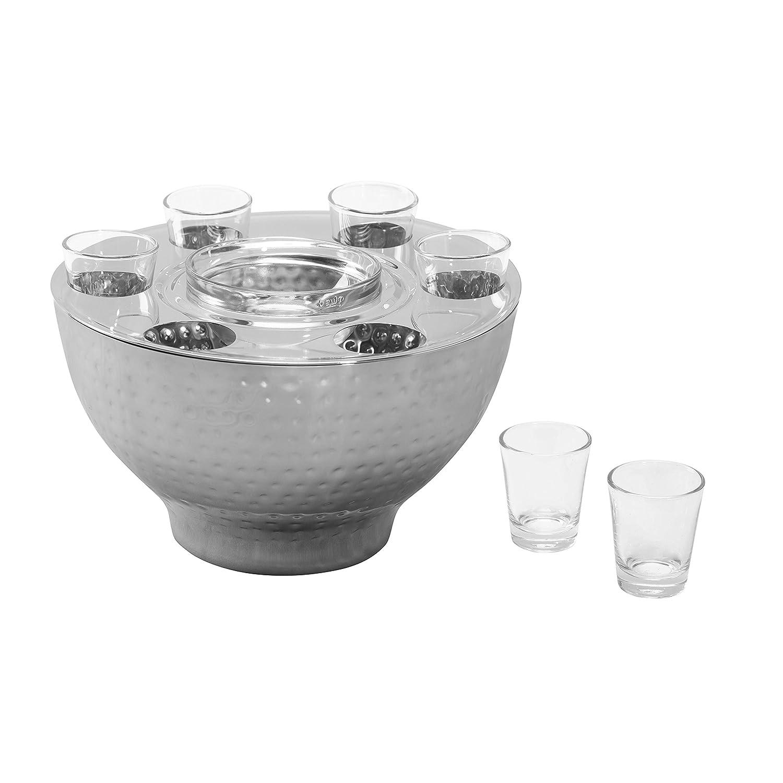 【完売】  優雅Vodka/ Set Liquor Serving Set/ w 優雅Vodka/ 6ショットグラスとステンレススチールIceボウル B073H3WXJ8, ヨシオカマチ:cd18eb44 --- a0267596.xsph.ru