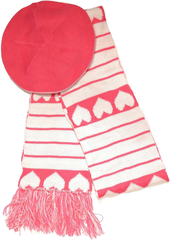 American Rag HatピンクHeartsスカーフ   B00H02GV40