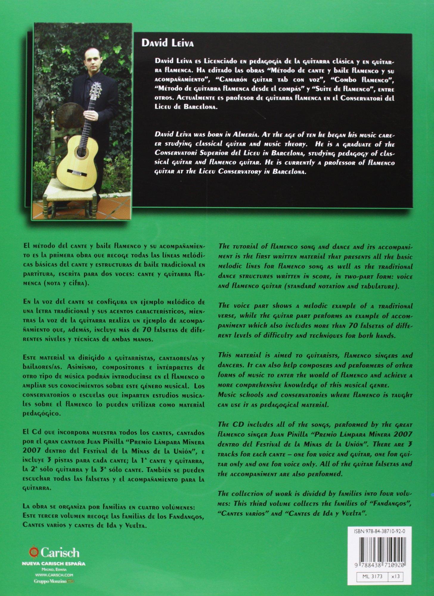 CANTE Y BAILE FLAMENCO V.3+CD Carisch Music Lab Spagna: Amazon.es ...