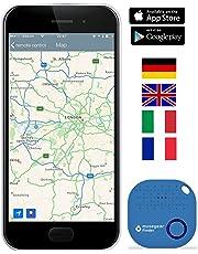 musegear® localizzatore Chiavi Bluetooth - Volume 3 Volte più Potente -Colore Blu Chiaro - Key Finder - Portafoglio Telefono