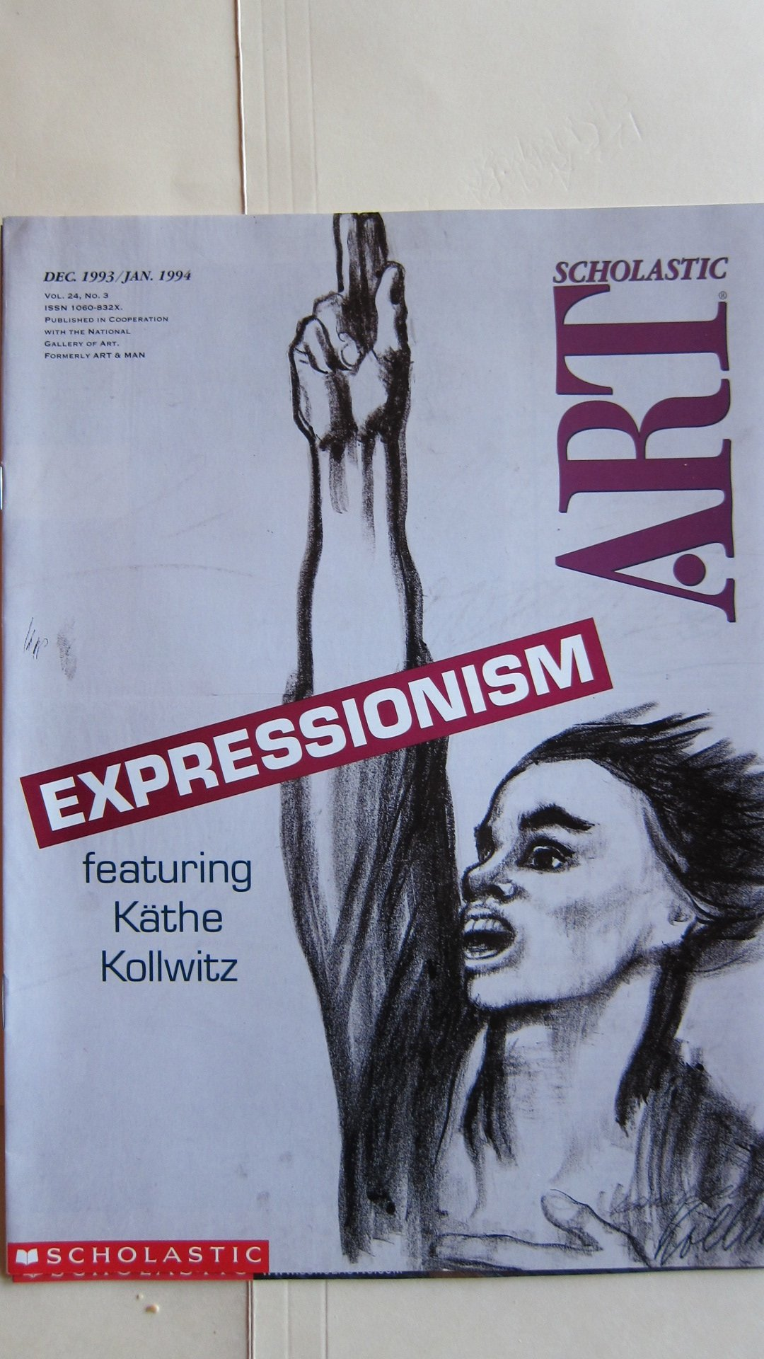 scholastic art magazine expressionism featuring kathe kollwitz scholastic art magazine