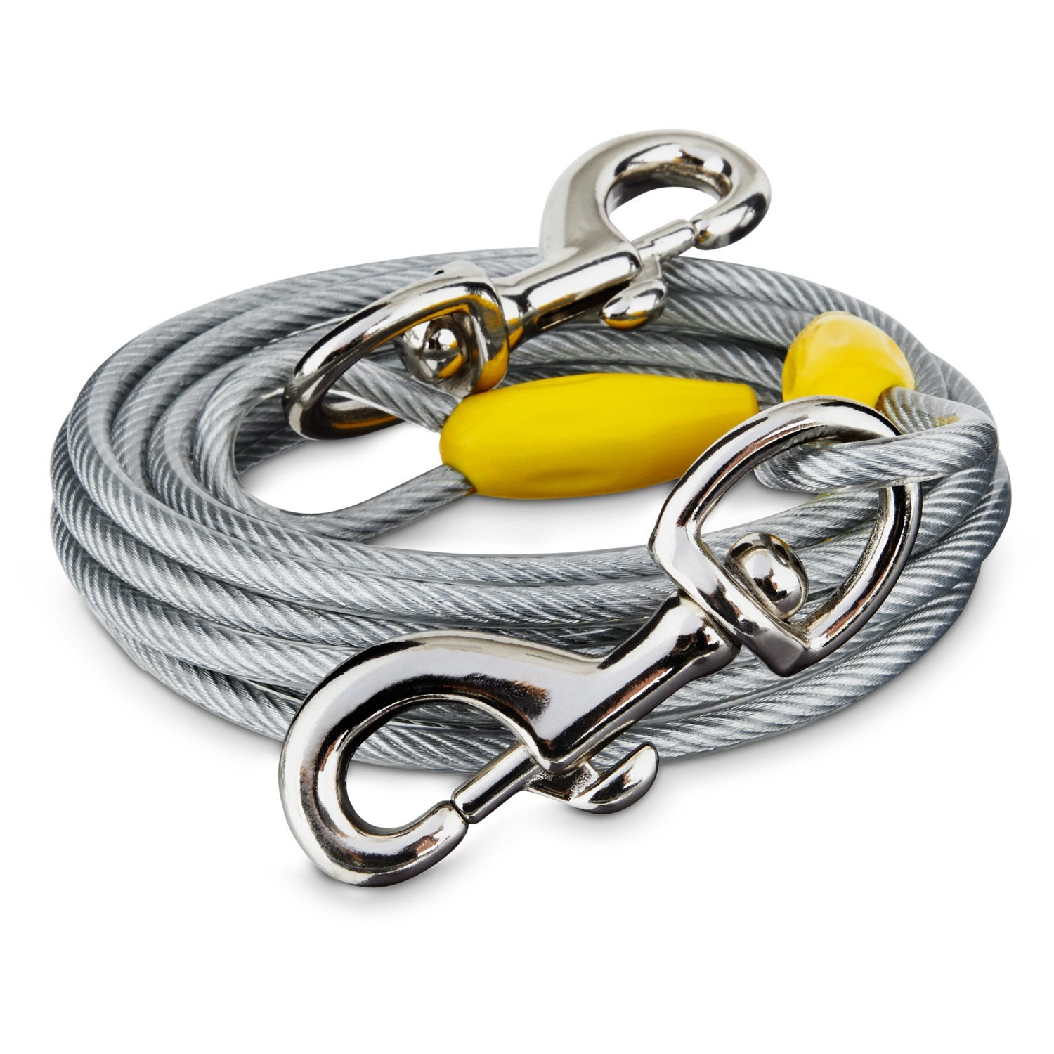 You & Me Gray X-Large Free to Flex Dog Tie-Out Cable, 40' L, for Dogs up to 150 Lbs. by You&Me