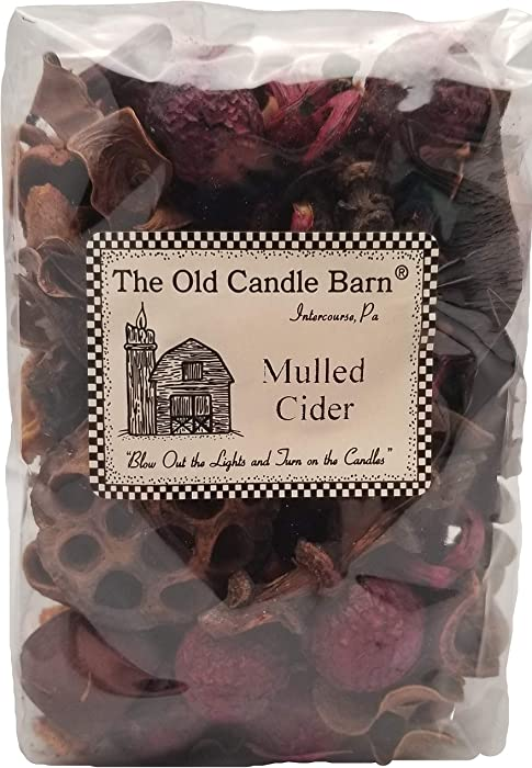 Old Candle Barn Mulled Cider Potpourri 4 Cup Bag - Perfect Fall Decoration or Bowl Filler - Beautiful Autumn Apple Scent