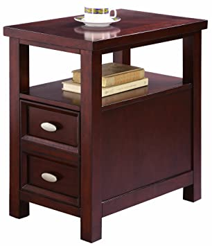 crown mark dempsey chair side table