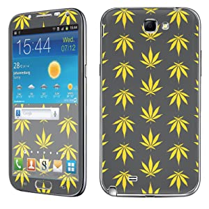 Samsung [Galaxy Note 2] Phone Skin - [SkinGuardz] Full Body Scratch Proof Vinyl Decal Sticker with [WallPaper] - [Yellow Weed] for Samsung Galaxy [Note 2]