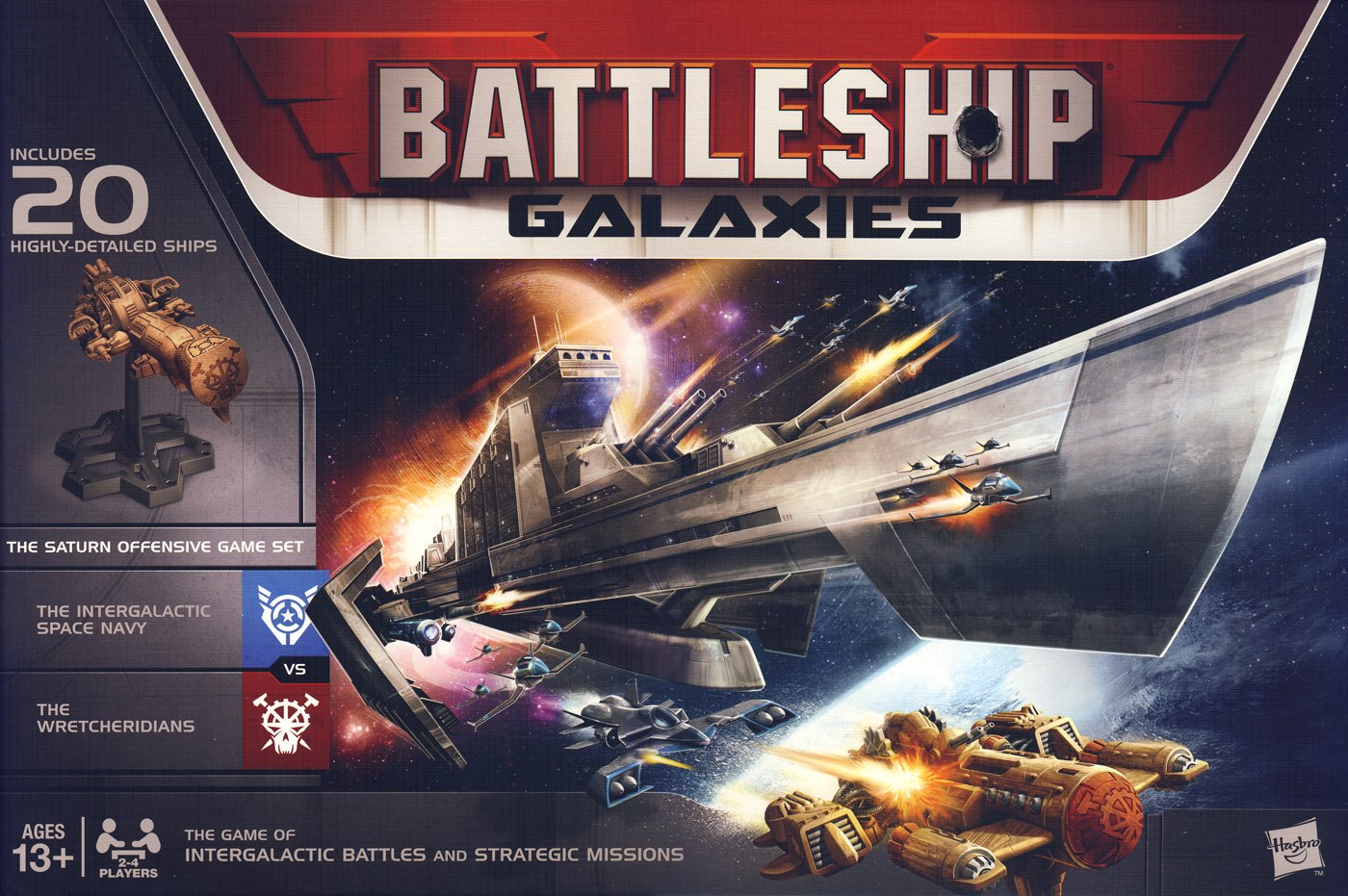 Wizards of the Coast 169212040 - Battleship Galaxies, Strategiespiel