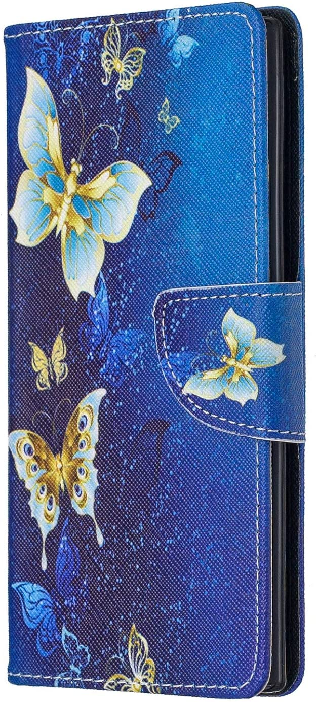 LOBFE040220 L10 Lomogo Galaxy Note 10 Case Leather Wallet Case with Kickstand Card Holder Shockproof Flip Case Cover for Samsung Galaxy Note10