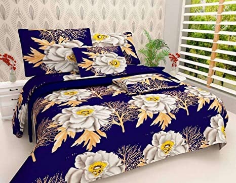 67b186d184 Buy Home Best Microfiber 3D Printed Double Bedsheet (1 Double Bed Sheet  with 2 Pillow Covers, Multicolor Online at Low Prices in India - Amazon.in