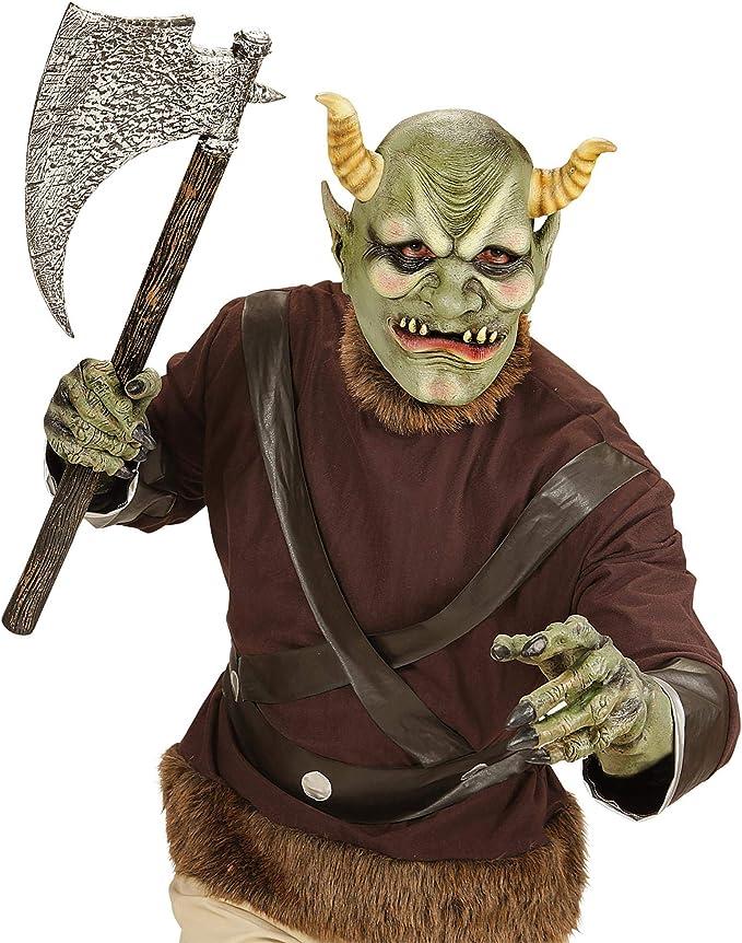 WIDMANN vd-wdm00410 Máscara Cabeza Completa Orco diabólico, verde ...