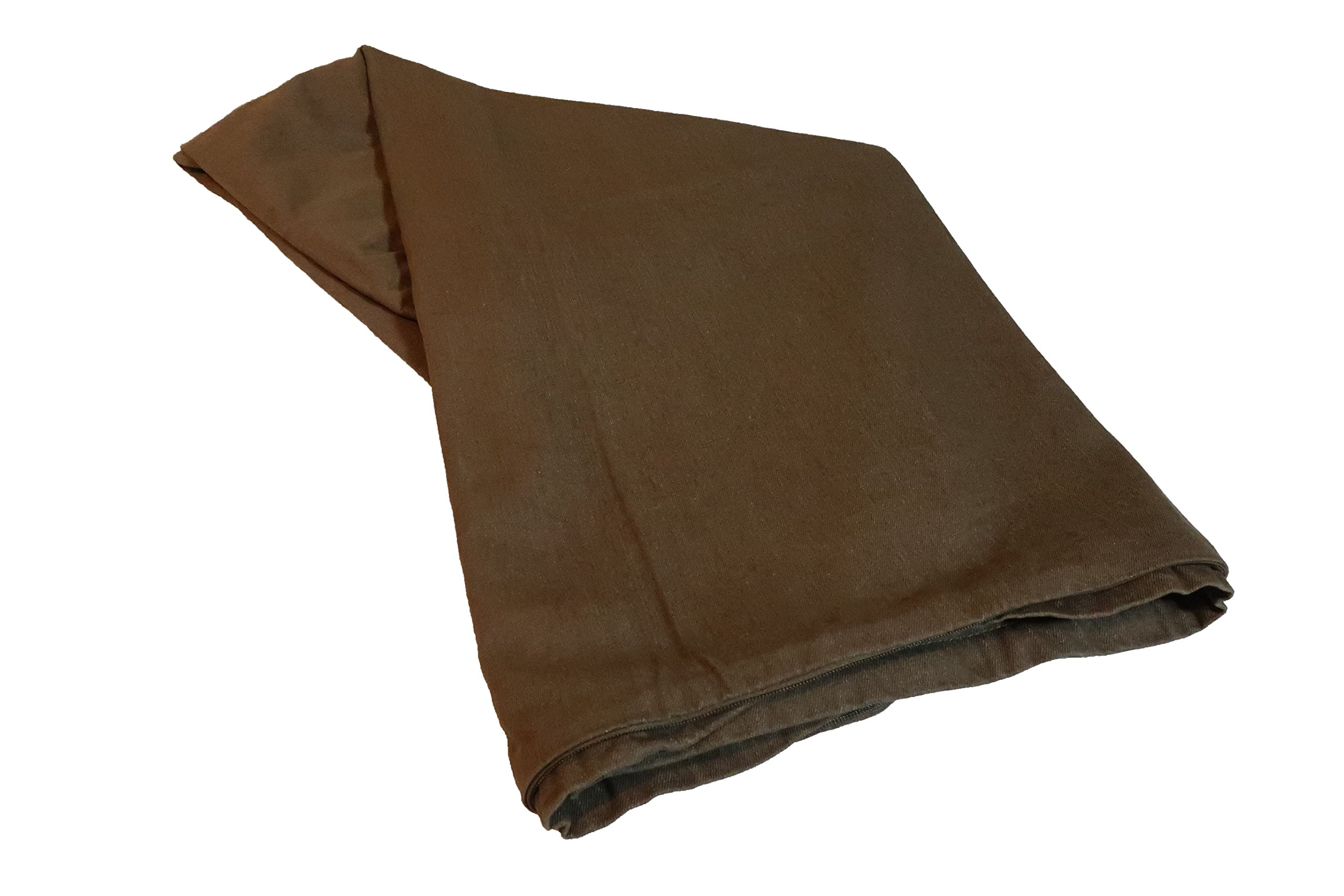 BarksPetComfort 35''X20''X4'' Inch Premium Comfort Durability Brown Denim Jean Cover for Pillow or Pad With Eyelid Zipper for Small Sized Dogs & Pets [REPLACEABLE COVER ONLY]
