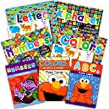 Sesame Street Flash Cards and Workbooks Super Set Toddler Kids -- 4 Workbooks and Over 100 Flash Cards with Reward Stickers (Sesame Street ABCs, Numbers, Letters and Colors)
