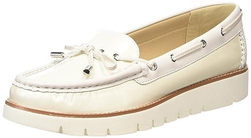 Geox D Blenda D - Mocasines de Piel para Mujer Blanco Bianco (Bianco (Off WHITEC1002)) 35: Amazon.es: Zapatos y complementos
