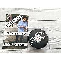 $57 » Nick Foligno Signed Columbus Blue Jackets Hockey Puck Autographed PROOF c - Autographed NHL Pucks