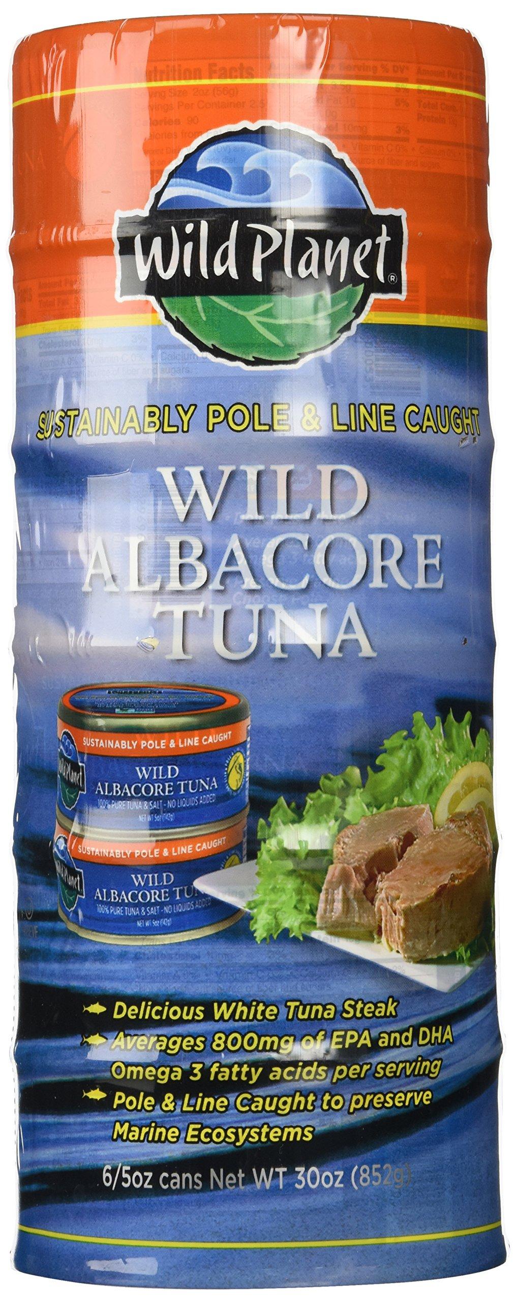 Wild Planet Wild Albacore Tuna Six 5oz. Cans