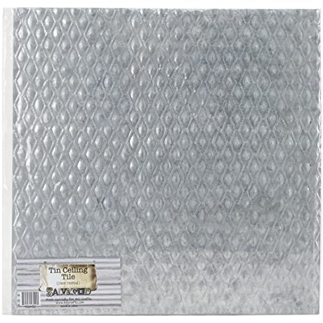 Cute 17 X 17 Floor Tile Thick 2 X 2 Ceiling Tiles Flat 2 X 8 Glass Subway Tile 2X2 Ceiling Tiles Young 3 Tile Patterns For Floors Fresh4X4 Ceramic Floor Tile Amazon.com: Salvaged, By BCI Crafts Tin Ceiling Tile, Raw Metal ..