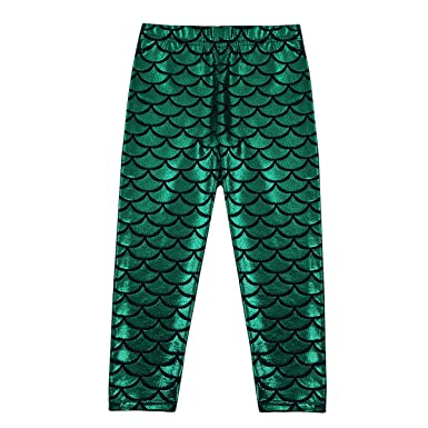 TiaoBug Kids Girlu0027s Shiny Mermaid Leggings Metallic Fish Scales Tights Pants Mermaid Costume Green 3-  sc 1 st  Amazon UK & TiaoBug Kids Girlu0027s Shiny Mermaid Leggings Metallic Fish Scales ...