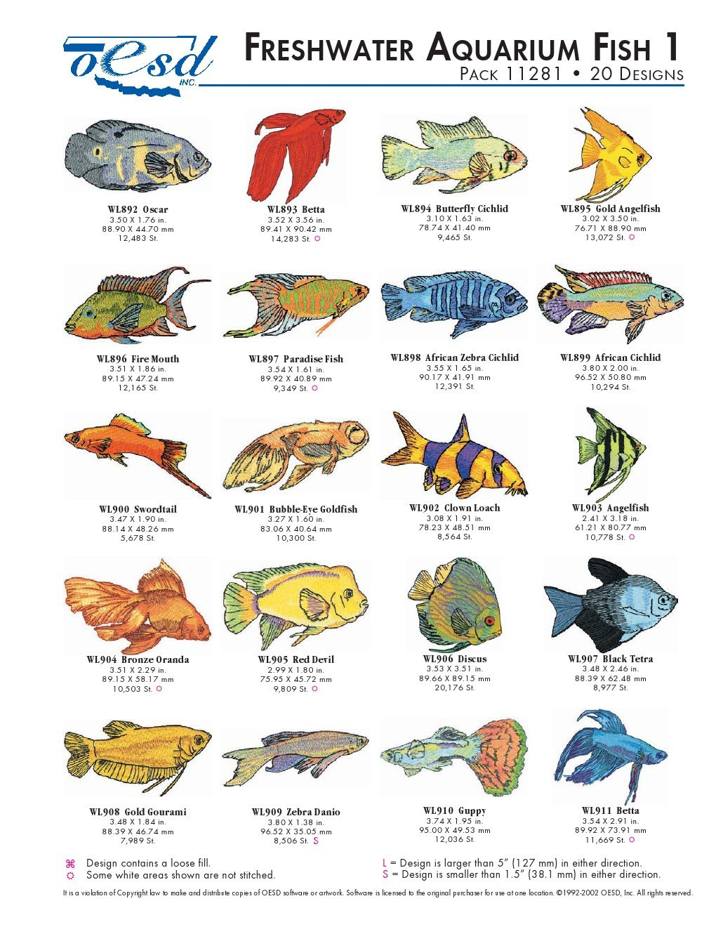 Amazon Com Oesd Embroidery Machine Designs Freshwater Aquarium Fish