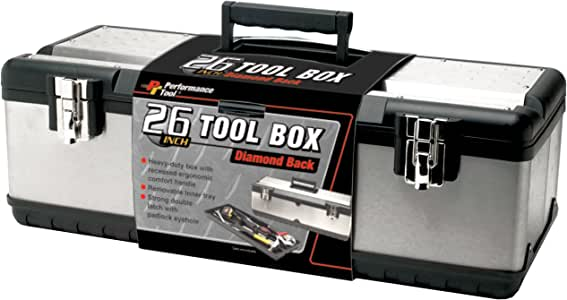 "Tool Box 26/"" Avec Plateau /& Compartiment Organisateur Aluminium Poignée"