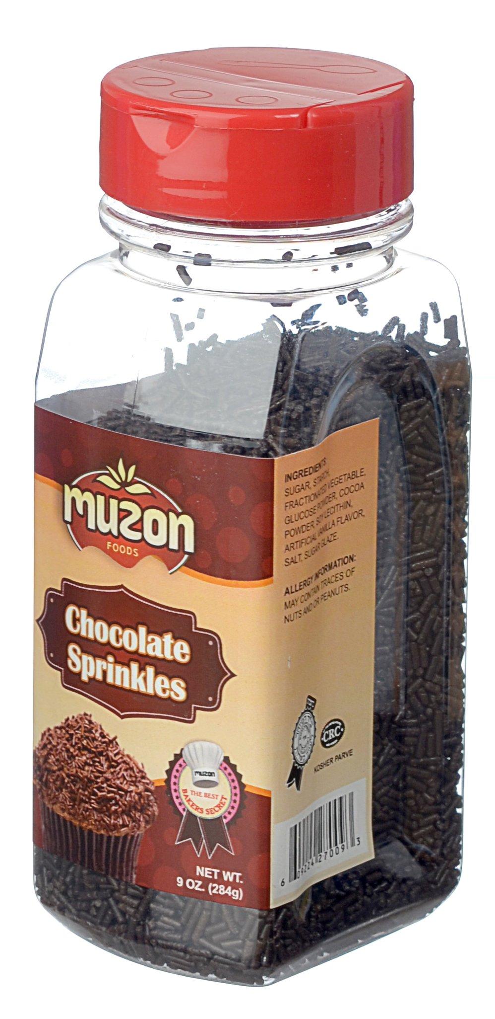 Muzon Chocolate Sprinkles, Sprinkles Chocolate Flavored, Chocolate Jimmies Food Decorative,