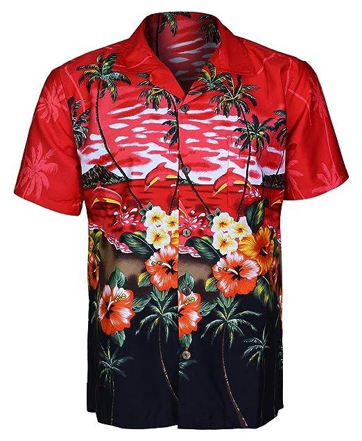 24002a3961c Boston Para Hombre Hawaiian Camisas de Manga Corta Árbol Playa Floral y  Impreso Colorido gráfica  Amazon.es  Ropa y accesorios