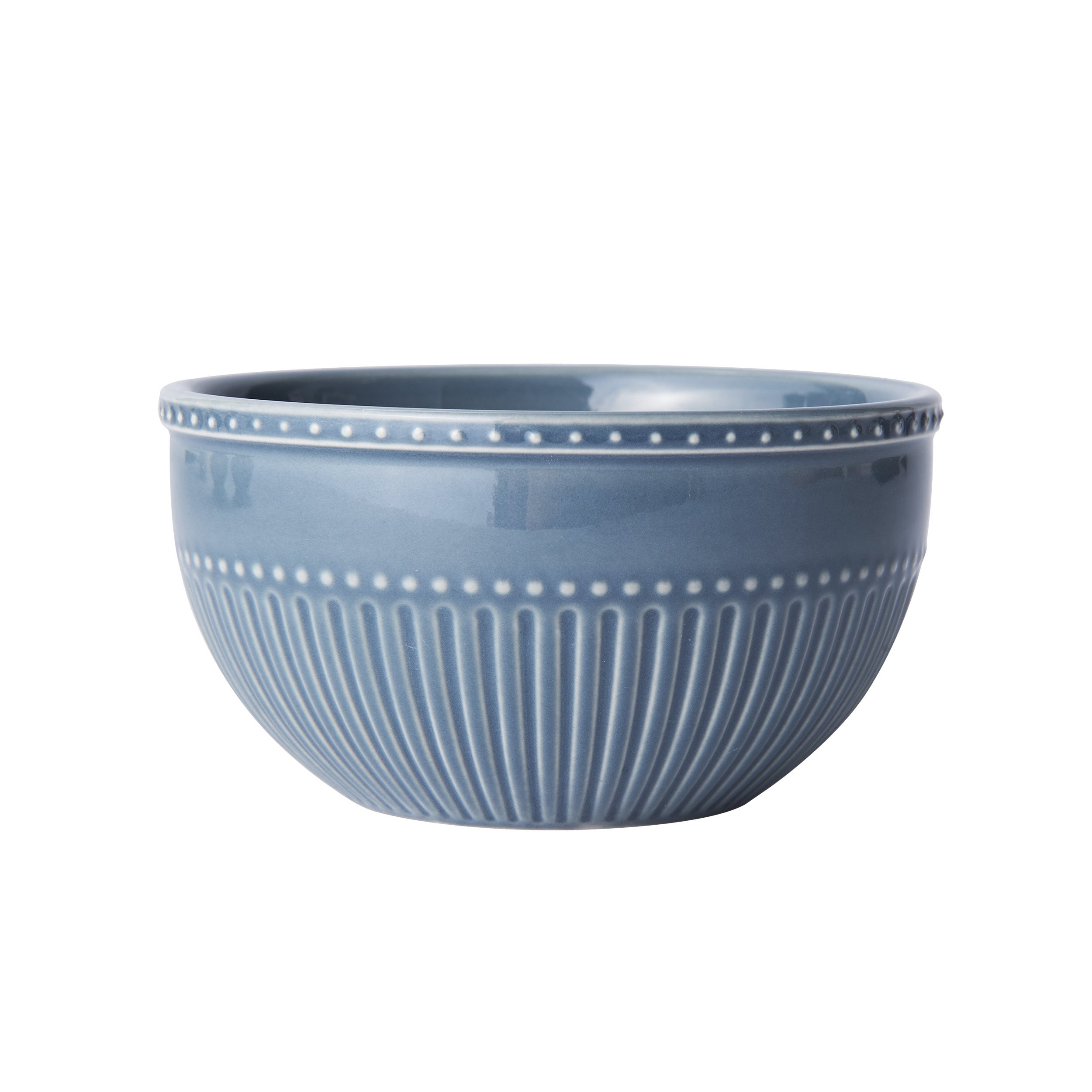 Mikasa Italian Countryside Accents Fruit Bowl, Fluted Blue