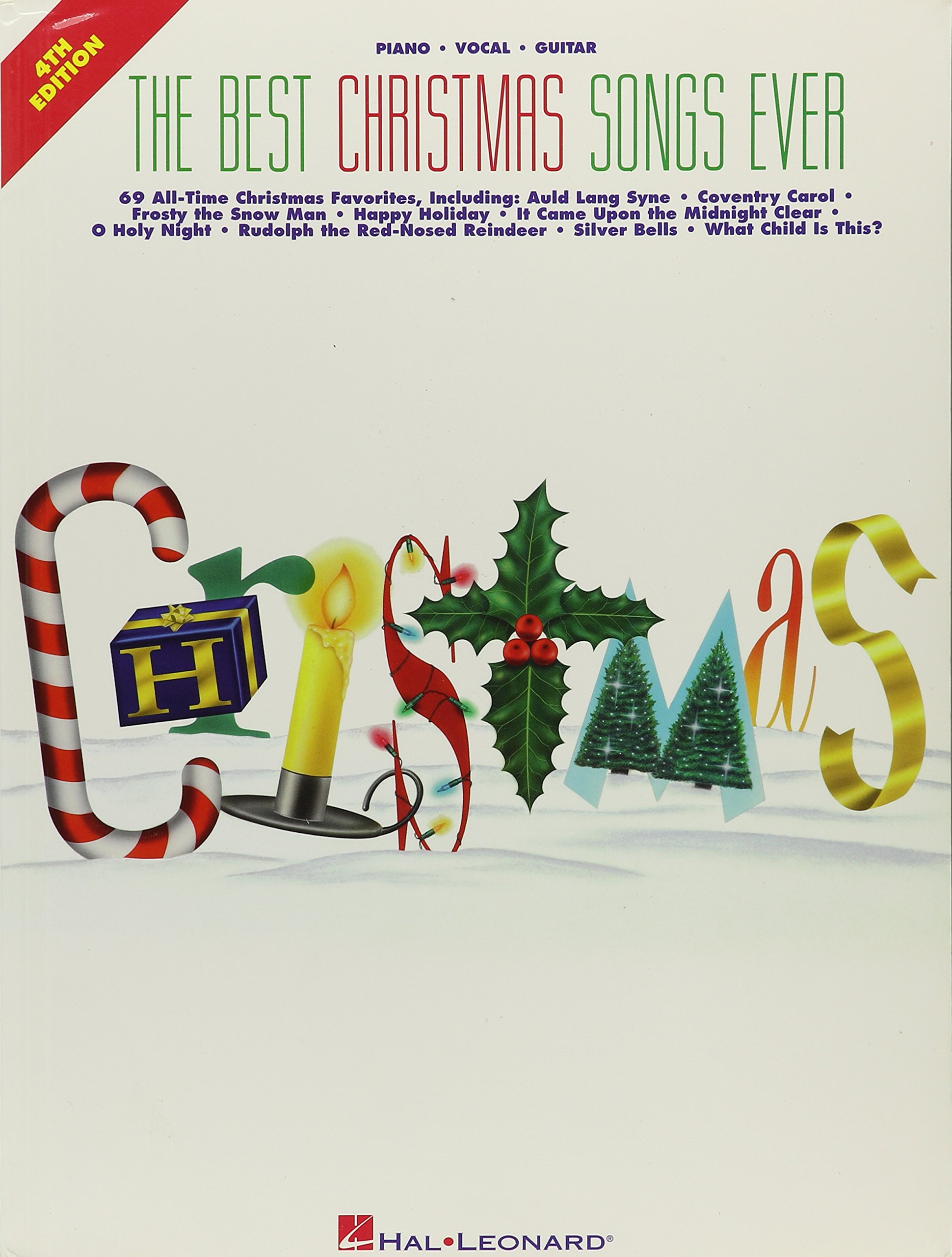 Best Christmas Songs Ever 4th Edition Easy Piano Paperback 1986
