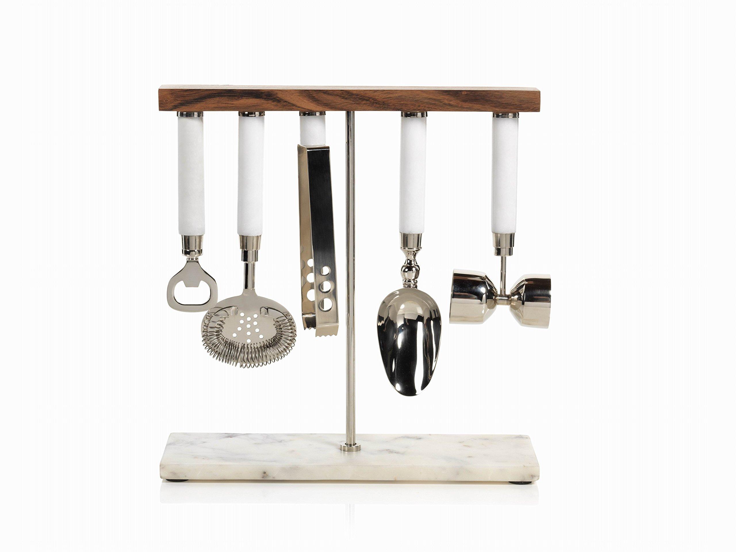 Zodax Marbella 5-Piece Bar Tool Set, 5