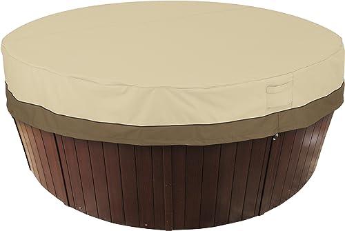 Classic-Accessories-55-584-011501-00-Veranda-Water-Resistant-84-Inch-Round-Hot-Tub-Cover