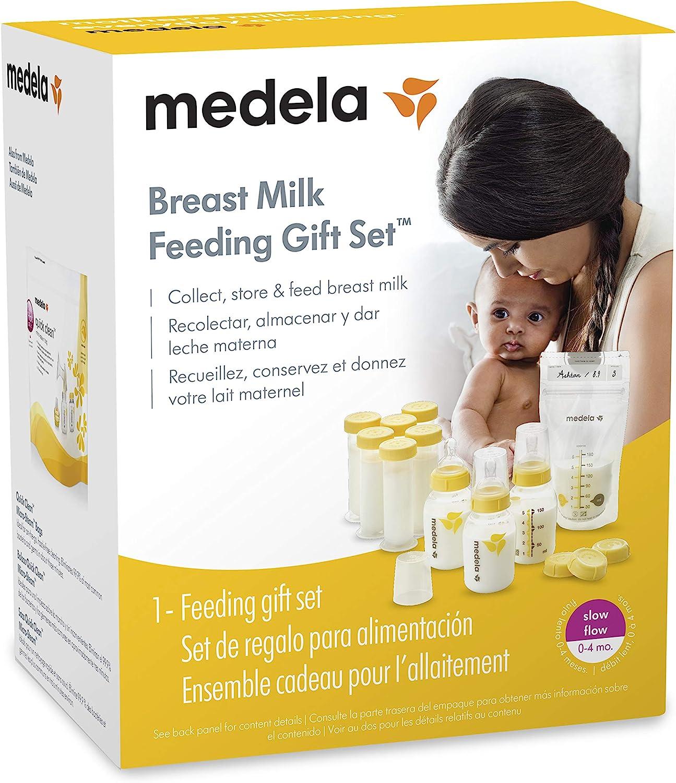 Nipples Travel Caps Medela Breastfeeding Gift Set More; Made Without BPA Breast Milk Storage Bags Complete Breast Milk Storage System; Bottles