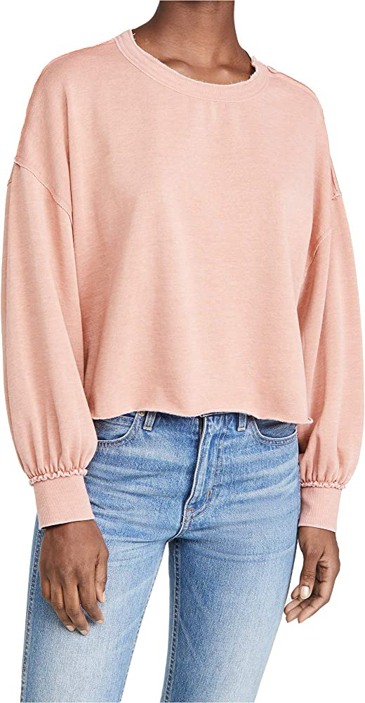 Z Supply Women S Tempest Sweatshirt Petal Pink Large At Amazon Women S Clothing Store